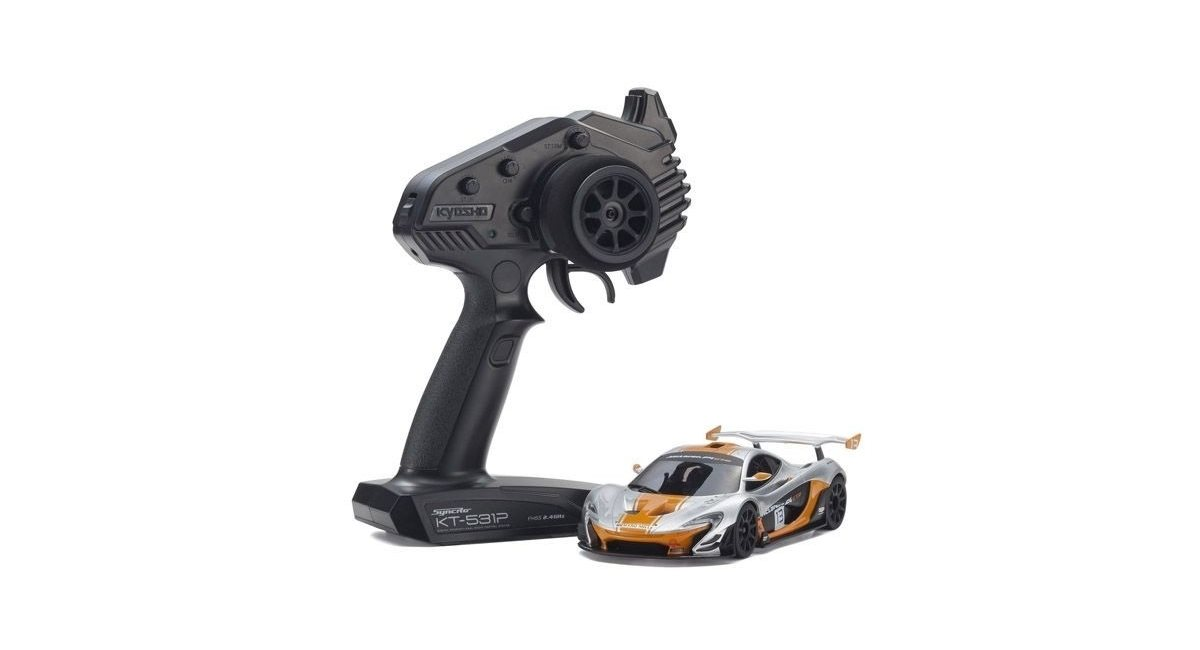 Mini-Z RWD McLaren P1 GTR Silver-Orange (W-MM/KT531P)