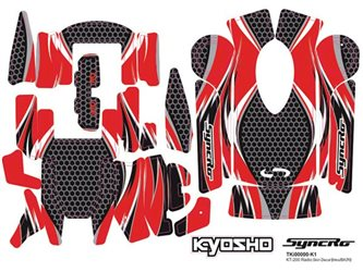 RADIO SKINS DECAL FOR KT200/201 - RED