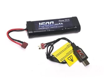 COMBO Charger USB - Battery 7.2V (72203D+GE2-1500-1D) Deans Plug