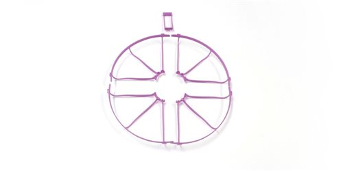 PROPELLER GUARD (4) AND WING STAY DRONE RACER - PURPLE