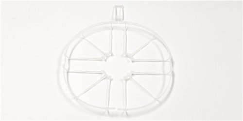 PROPELLER GUARD (4) AND WING STAY DRONE RACER - CLEAR