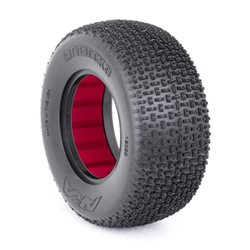 SHORT COURSE TYRES 1:10 CITY BLOCK 3 LARGE SOFT (2) WITH INSERTS