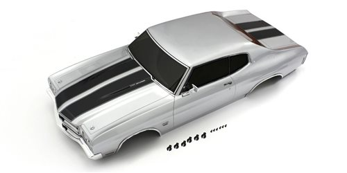 Body shell set 1:10 Fazer FZ02L ChevyR ChevelleR SS454LS6 - Silver