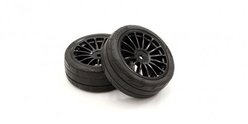 Pre-Glued Tyres 15 Spokes Black Wheels 1:10 Fazer 2.0 (2) Medium