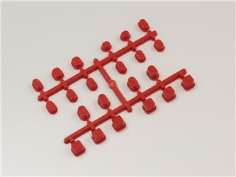 SUSPENSION BUSH SET - MP9 / RED