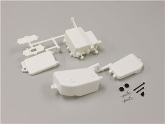 RECEIVER AND BATTERY BOX INFERNO MP9 - WHITE