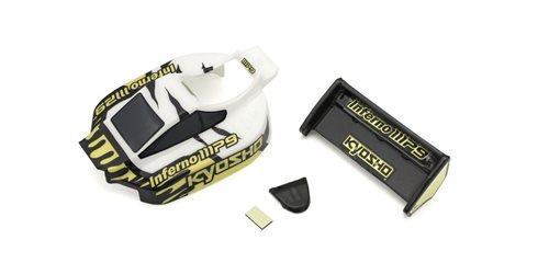 Mini-Z Buggy Inferno MP9 TKI3 Body Set (White-Black)