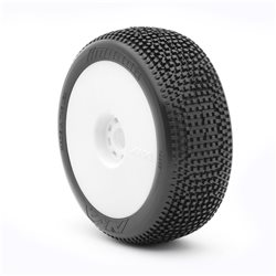 1:8 BUGGY IMPACT (SUPERSOFT - LONG WEAR) EVO WHEEL PRE-MOUNTED WHITE