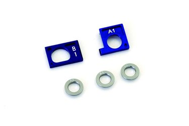 ALU MOTOR HOLDER SET 1 MINI-Z AWD - BLUE