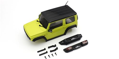 Bodyshell Suzuki Jimny Sierra Yellow Mini-Z 4X4 MX01