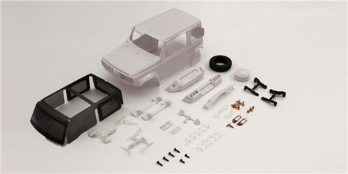 Bodyshell Suzuki Jimny Sierra Mini-Z 4X4 MX01 (White Body)