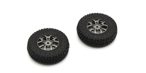Pre-GluedTires (2) Suzuki Jimny Mini-Z 4X4 MX01 - Heavy Weight