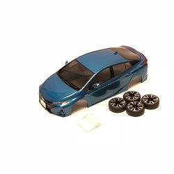 BODY SHELL ONLY Mini-Z TOYOTA PRIUS PHV WHITE PEARL + 4WD WHEELS