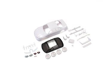 BODY SHELL - NISSAN SKYLINE R33 MINI-Z + 4WD RIMS (WHITE BODY)