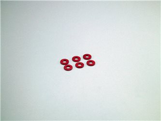 ALUMINIUM COLLAR 3X7X1MM (6) - RED