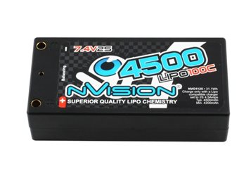 FACTORY PRO SHORTY 4500-100C-7.4V LIPO BATTERY -TUBES (208g)