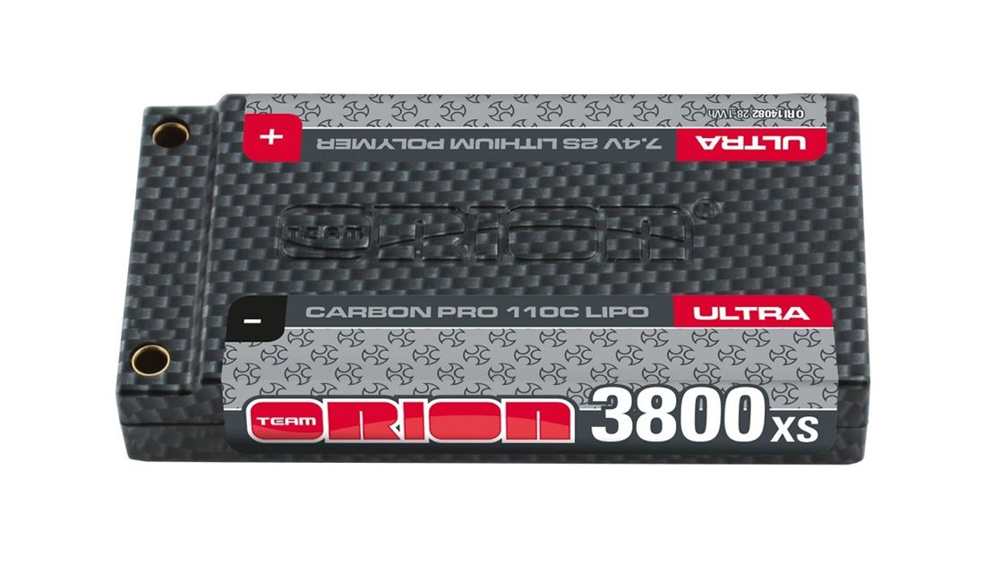 CARBON PRO XS SHORTY ULTRA 3800-110C-7.4V LIPO BATTERY (155g)
