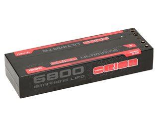 ULTIMATE GRAPHENE 2S LIPO 6800-120C-7.4V 4mm TUBES (297g)