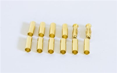 GOLD CONNECTOR SET (10 TUBES + 2 PLUG 4MM)