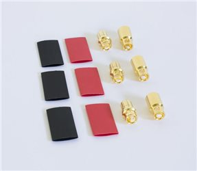 GOLD PLUG 8MM (MALEx3/FEMALEx3)