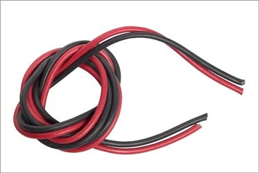 SILICONE WIRE BLACK/RED 18AWG