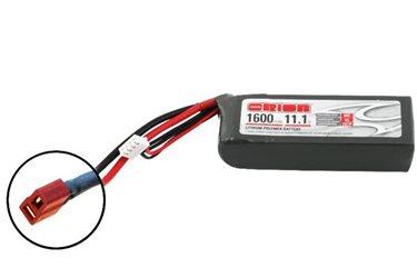 ORION LIPO LED 3S-1600-11.1V-50C -L94xW31xH27/147g- DEANS