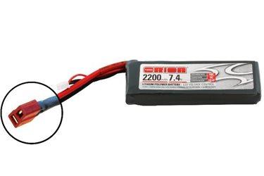 ORION LIPO LED 2S-2200-7.4V-50C -L108xW35xH19/134g- DEANS