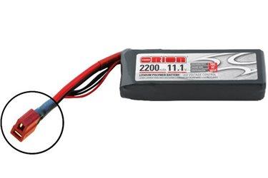 ORION LIPO LED 3S-2200-11.1V-50C -L108xW35xH27/185g- DEANS