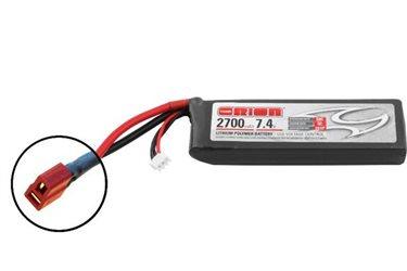 ORION LIPO LED 2S-2700-7.4V-50C -L118xW35xH20.5/166g- DEANS