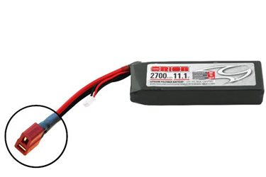 ORION LIPO LED 3S-2700-11.1V-50C -L118xW35xH29/228g- DEANS