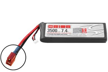 ORION LIPO LED 2S-3500-7.4V-50C -L140xW44xH19/229g- DEANS