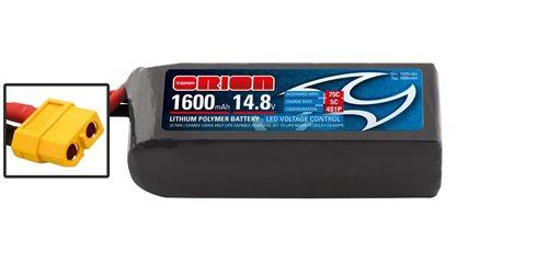RACING DRONE LIPO 4S-1600-14.8V-75C (L75xW36xH35/175g) XT60
