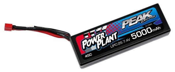 POWER PLANT PEAK LIPO 2S-7.4V-5000-45C-DEANS 12AWG