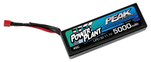 POWER PLANT PEAK LIPO 3S-11.1V-5000-45C-DEANS 12AWG