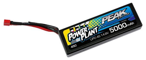 POWER PLANT PEAK LIPO 4S-14.8V-5000-45C-DEANS 12AWG