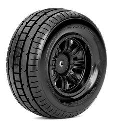 Short Course 1:10 tyre TRIGGER on Black rims 12mm(2)