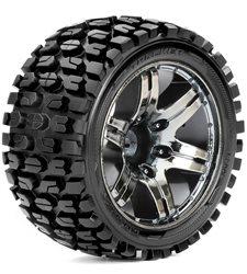 Roapex Stadium Truck 1:10 tyre TRACKER on Chrome Black wheels 12mm(2)