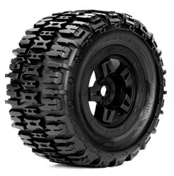 Roapex Monster Truck 1:8 tyre RENEGADE on Black wheels 17mm (2)