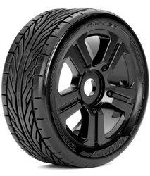 Roapex Buggy Slicks 1:8 tyre TRIGGER on Black wheels 17mm (2)