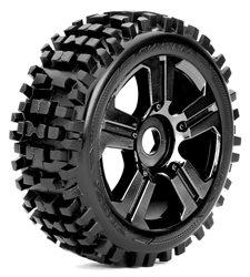 Roapex Buggy 1:8 tyre RHYTHM on Black wheels 17mm (2)