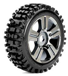 Roapex Buggy 1:8 tyre RHYTHM on Black Chrome wheels 17mm (2)