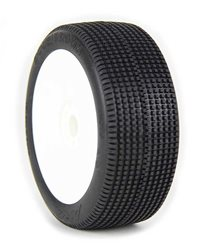 1:8 BUGGY TYRES ON EVO WHITE RIMS DOUBLEDOWN SUPERSOFT LONG WEAR (2)