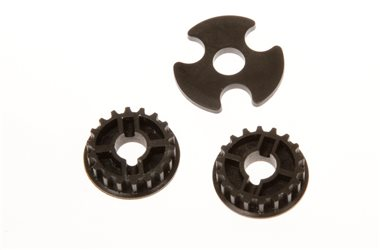 PULLEY MIDDLE 19T + SPACER (3)