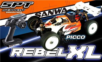 SERPENT COBRA BUGGY B-GP 1/8 RTR+PICCO REBEL +SANWA MX6