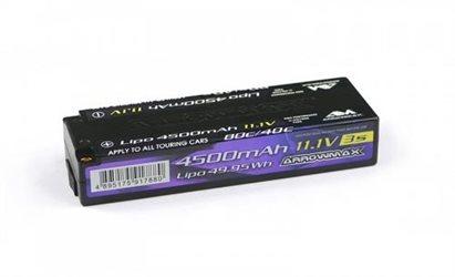 ARROWMAX LIPO LOW PROFIL 4500-40C (11.1V) LIPO BATTERY