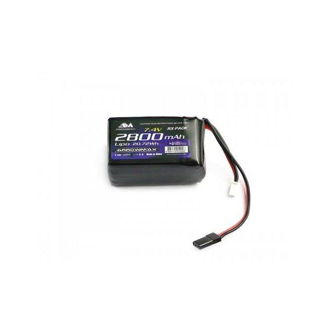 Arrowmax Lipo 2800mAh 2S TX/RX (7.4V)  hump pack