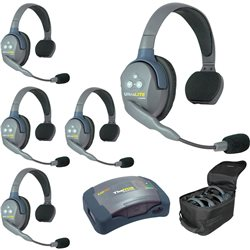 UltraLITE 5 PERSON SYSTEM (w/5 SINGLE HEADSETS, BATT/CHARG)