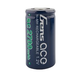 Gens ace Battery NiMh 1.2V-SC2700Mah Loose Cell  43x21mm 48g