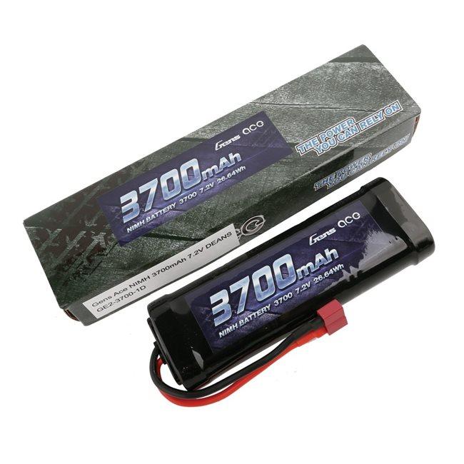 Gens ace Battery NiMh 7.2V-3700Mah (Deans) 135x48x25mm 365g