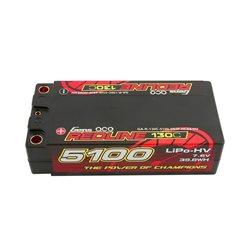 Gens ace Battery LiPo 2S-7.6V-130C-5100 (5mm) Shorty 97x48x26mm 215g